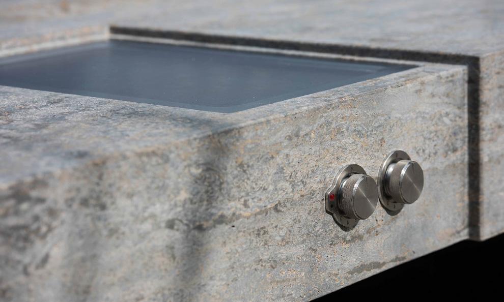 Die Gartenküche aus Stein, MKA01 Edelstahlgrill